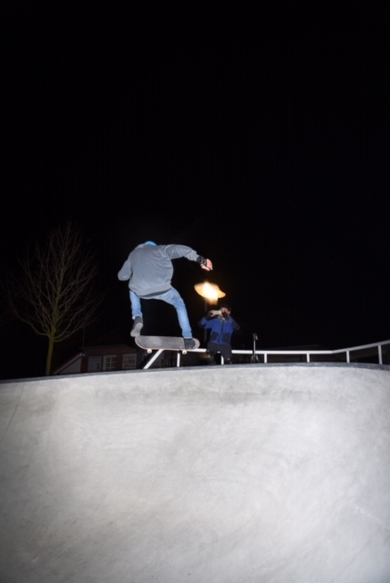 Skate at night - Lampen an